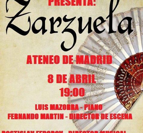 Zarzuela Ateneo 8 abril