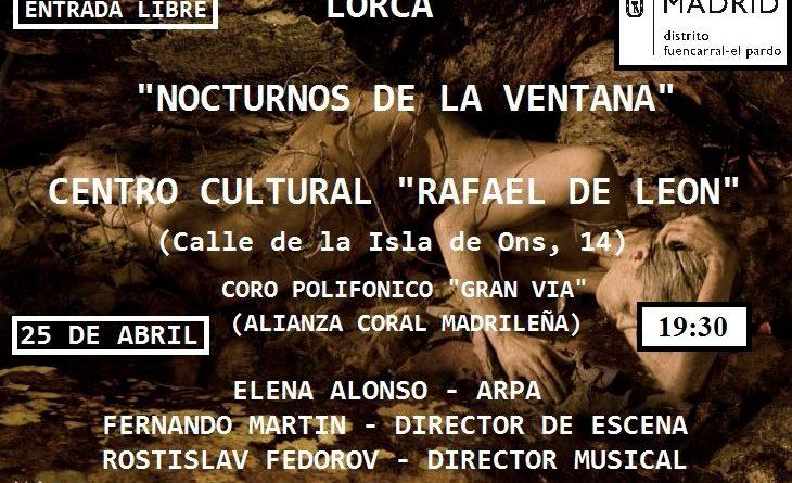 Cartel Lorca 25 de Abril Rafael de Leon