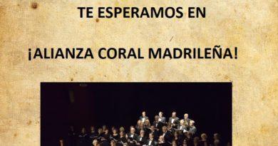 Audiciones de Alianza coral madrileña curso 2018-2019