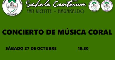 Concierto de Schola Cantorum de Barakaldo y Alianza coral madrileña